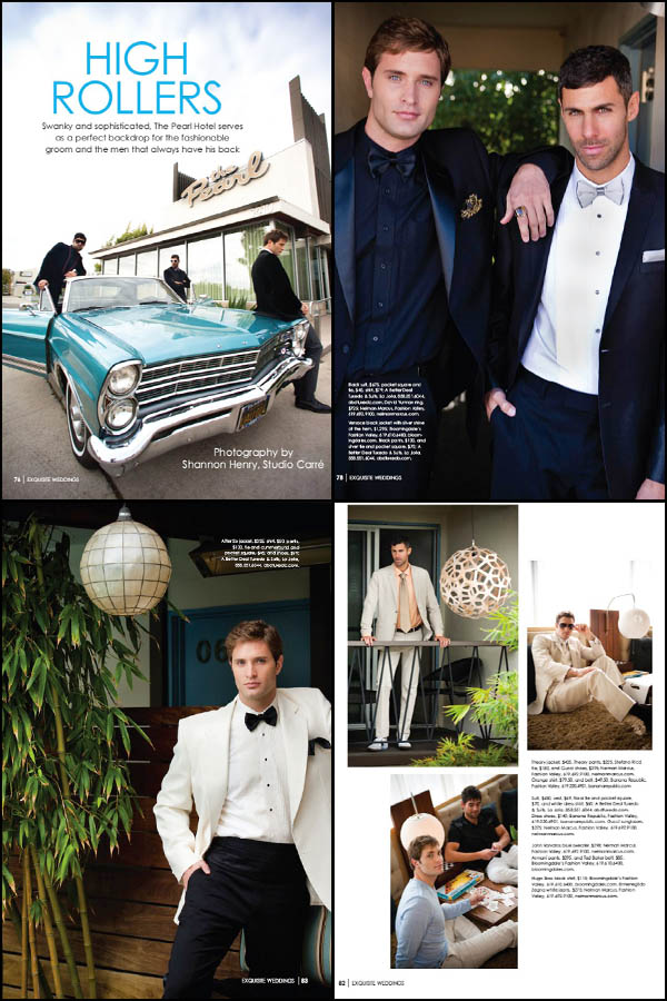press :: studio carre' featured in exquisite weddings magazine