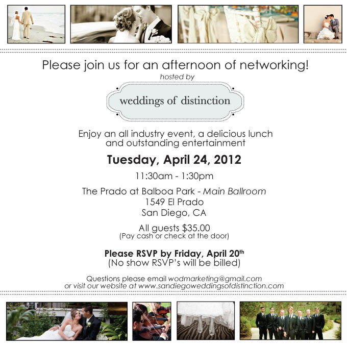 Weddings of Distinction April Event