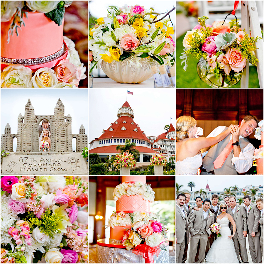 real wedding :: beach wedding at the hotel del coronado