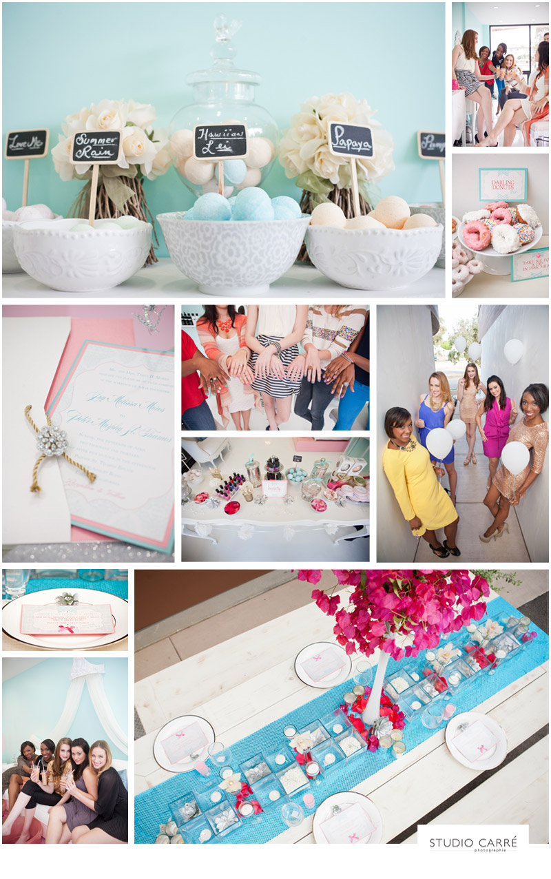 styled inspiration :: bachelorette spa party