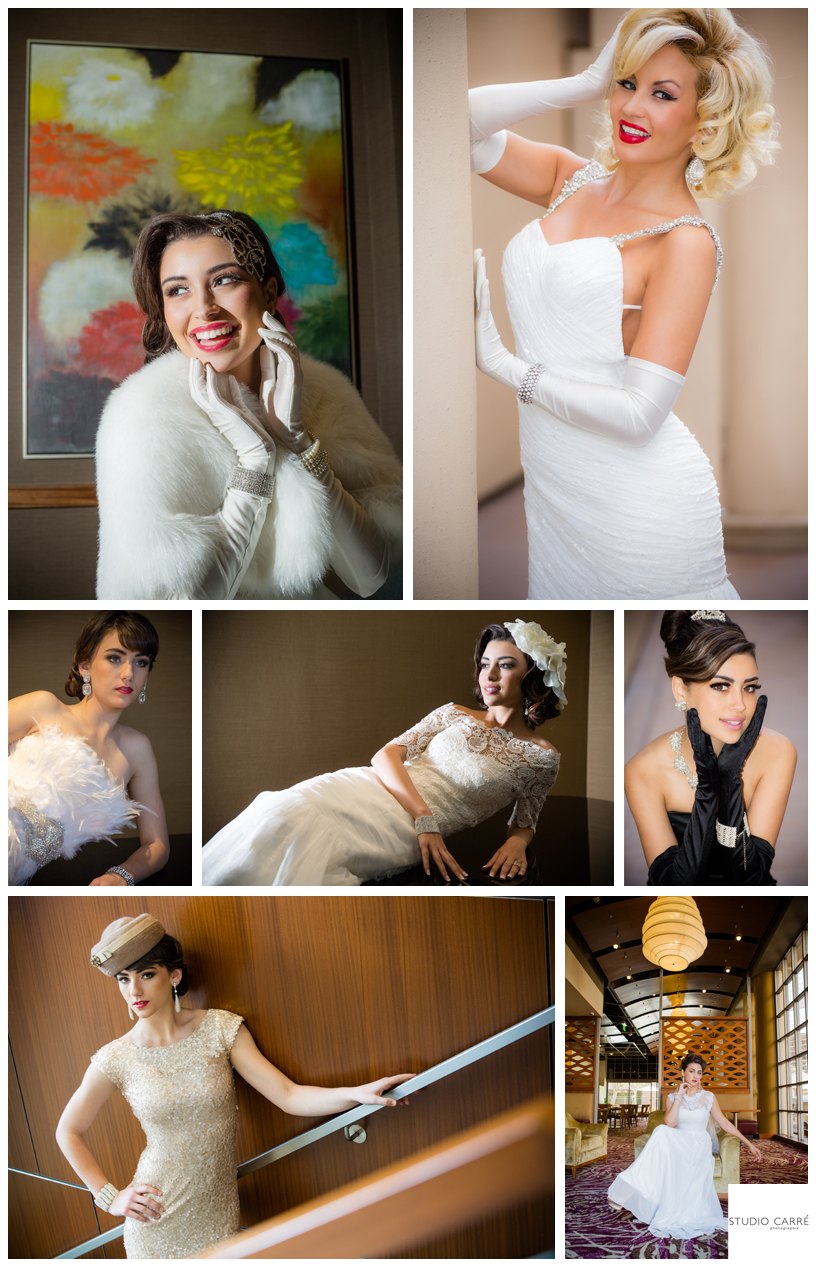 old Hollywood bridal style | vintage wedding inspiration