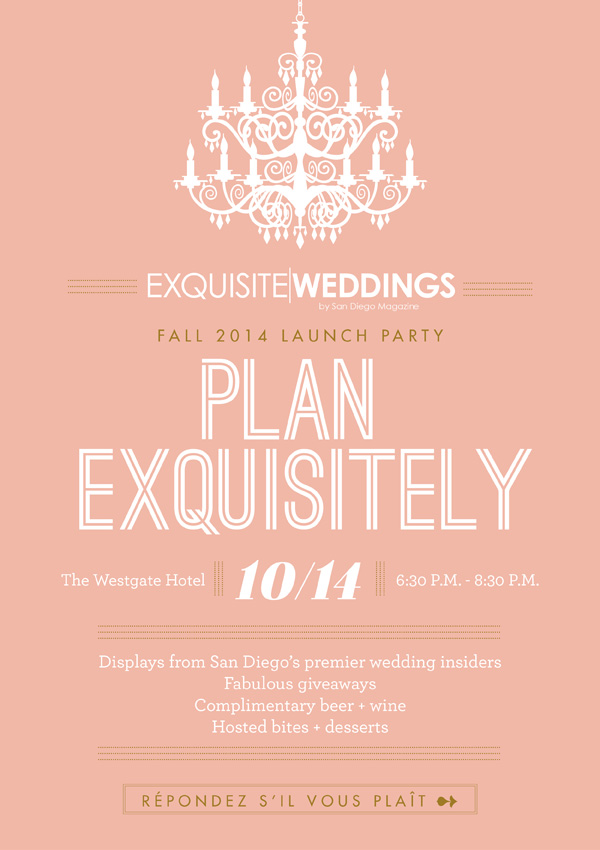 bridal event in San Diego :: exquisite weddings fall launch party