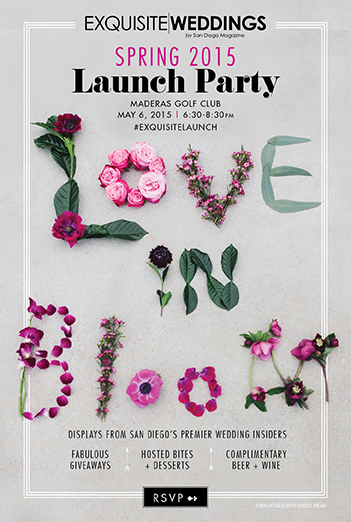 exquisite weddings magazine :: spring launch party 2015